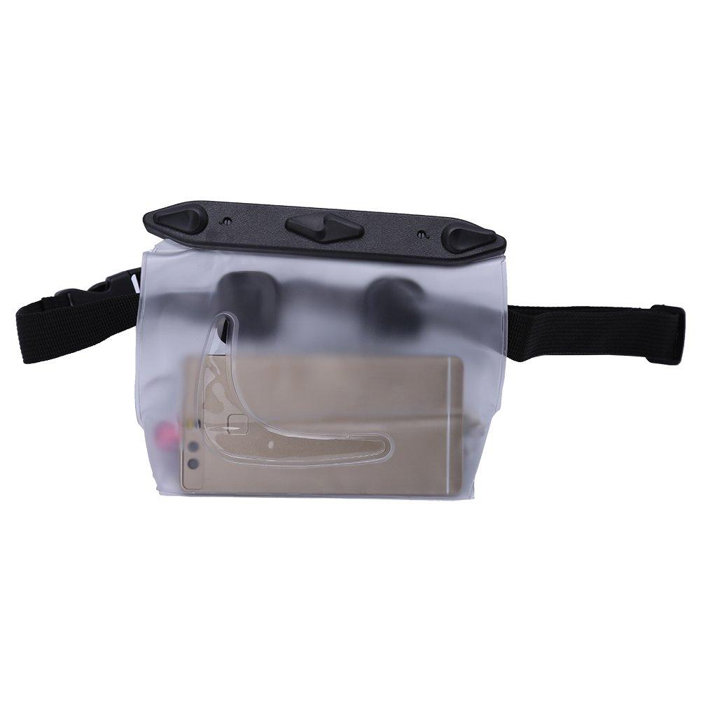 防水ウエストバッグUnderwater anti-waterカメラポーチforサーフィン水泳& Diving B07B2GZWTS  透明
