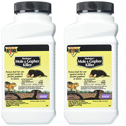 MOLETOX II 1 B07GQ915K4 Bonide Chemical Mole and Gopher Killer, 8-Ounce 2 Pack, Multi ()