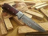 Knife King Snowdown Hunter Custom Damascus Handmade Hunting Knife. Top Quality.