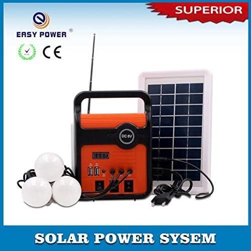 Radio con panel Solar – Luz LED y kit de bombillas Puerto de Carga ...