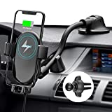 Mpow Car Phone Mount Wireless Charger, Qi Car Charger 10W/7.5W, Auto-Clamping Car Wireless Charger Air Vent Dashboard Car Mount, Compatible/w iPhone 11 Series/X/XR/8, Galaxy Note10/S10/S20 Series (Color: Black)