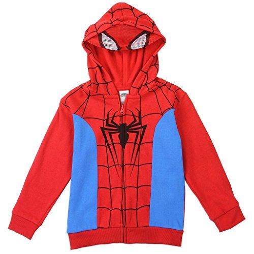 2016 Superhero Costumes (Marvel Toddler Boys' Spiderman Costume Hoodie, Red, 3T)