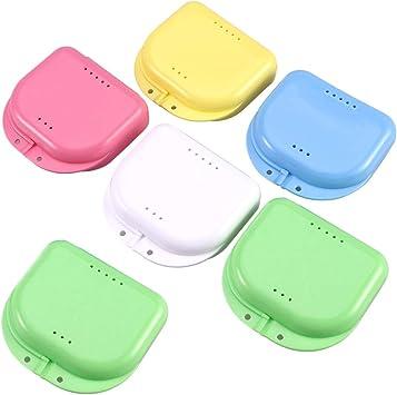 Caja de retenedor Caja de prótesis dental Caja de protector bucal Porta dentaduras de ortodoncia Contenedor de almacenamiento (color aleatorio): Amazon.es: Salud y cuidado personal