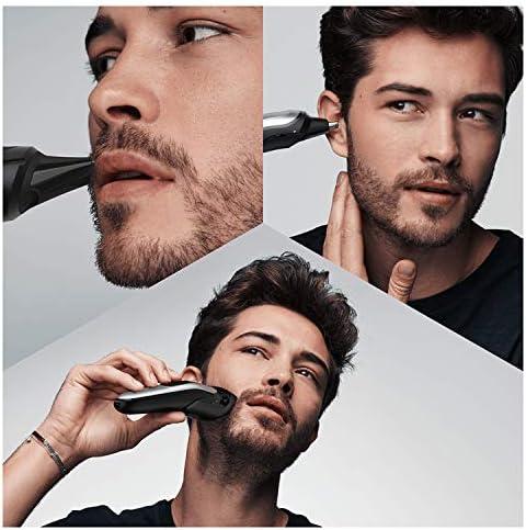 Braun MGK7020 10 en 1, Máquina recortadora barba y cortapelos todo en uno con afeitadora cuerpo, nariz y orejas, afeitadora mini, detalles, color negro/plata: Amazon ...