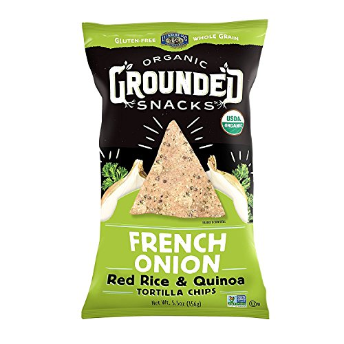 (Lundberg Organic Grounded Snacks Red Rice & Quinoa Tortilla Chips 5.5oz (French Onion))