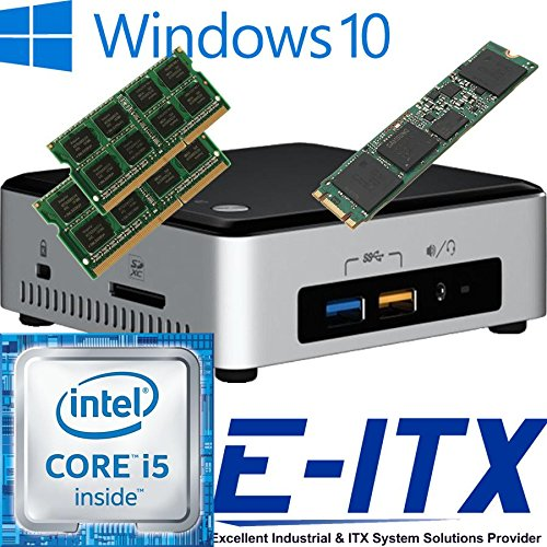 Intel NUC6I5SYH 6th Gen (Skylake) Core i5 System (BOXNUC6I5SYH), 8GB Dual Channel DDR4 , 240GB M.2 SSD, WiFi, Bluetooth, Window 10 Pro Installed & Configured by E-ITX