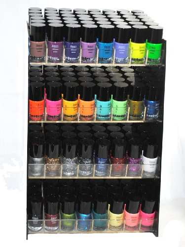 Emori (TM) 32 Piece Couleur vive Nail Lacquer (Glitter, Aspect métallique, Neon, vernis à ongles) Combo Set + 3 séries de Nail Polish Remover Parfumeur - Xtreme