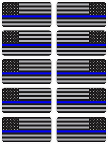 [Police Department American Flags Hard Hat Stickers / Decals / Labels Black Ops Tool Lunch Box Helmet Patriotic Old Glory Law Enforcement Cops RH &] (Cop Hat)