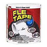Flex Seal Waterproof Tape 4 inch x 5 feet Flexible Sealing for Peel Roof Pipes Patch Holes Cracks Full Season (White)