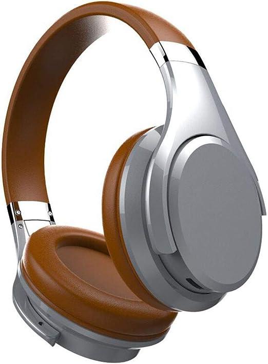 YMN Auriculares Bluetooth,Almohadillas Plegables de proteína Suave,y Smart Gesture Touch con Cable de Audio AUX y Cable USB para TV/PC/Celulares,Brown: Amazon.es: Hogar