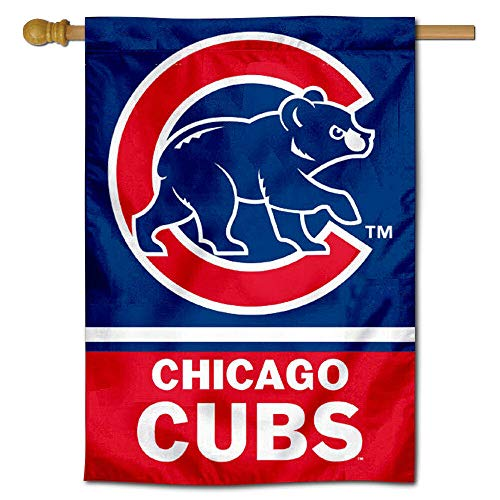 WinCraft Chicago Cubs Two Sided House Flag Chicago Cubs Vertical Flag