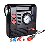 PowRyte Compact Digital Tire Inflator with Built-in Flashlight - Portable Air Compressor (Tire Inflator)