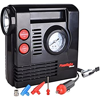 Amazon.com: PowRyte Compact Digital Tire Inflator with Built-in Flashlight - Portable Air ...