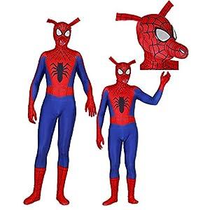 - 51HZDR1dlyL - Spider-Man Into The Spider-Verse Costume Spin Vision Spider-Ham Cosplay Zentai Suit