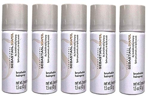 (Pack of 5 Professional Styling Shaper Brushable Dry Hairspray 1.5)