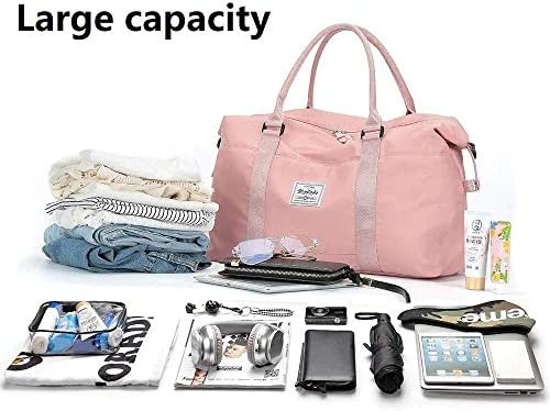 Womens travel bags, weekender carry on for women, sports gym Bag, workout duffel bag, overnight shoulder Bag, waterproof