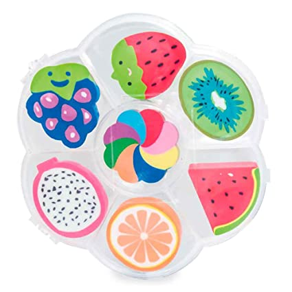 Set de 7 gomas de borrar con formas de frutas. Lote 10 ...