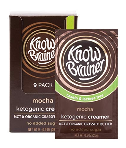 Know Brainer Mocha Coffee Creamer | Ketogenic | MCT Oil & Organic Grass-Fed Ghee | Non-GMO