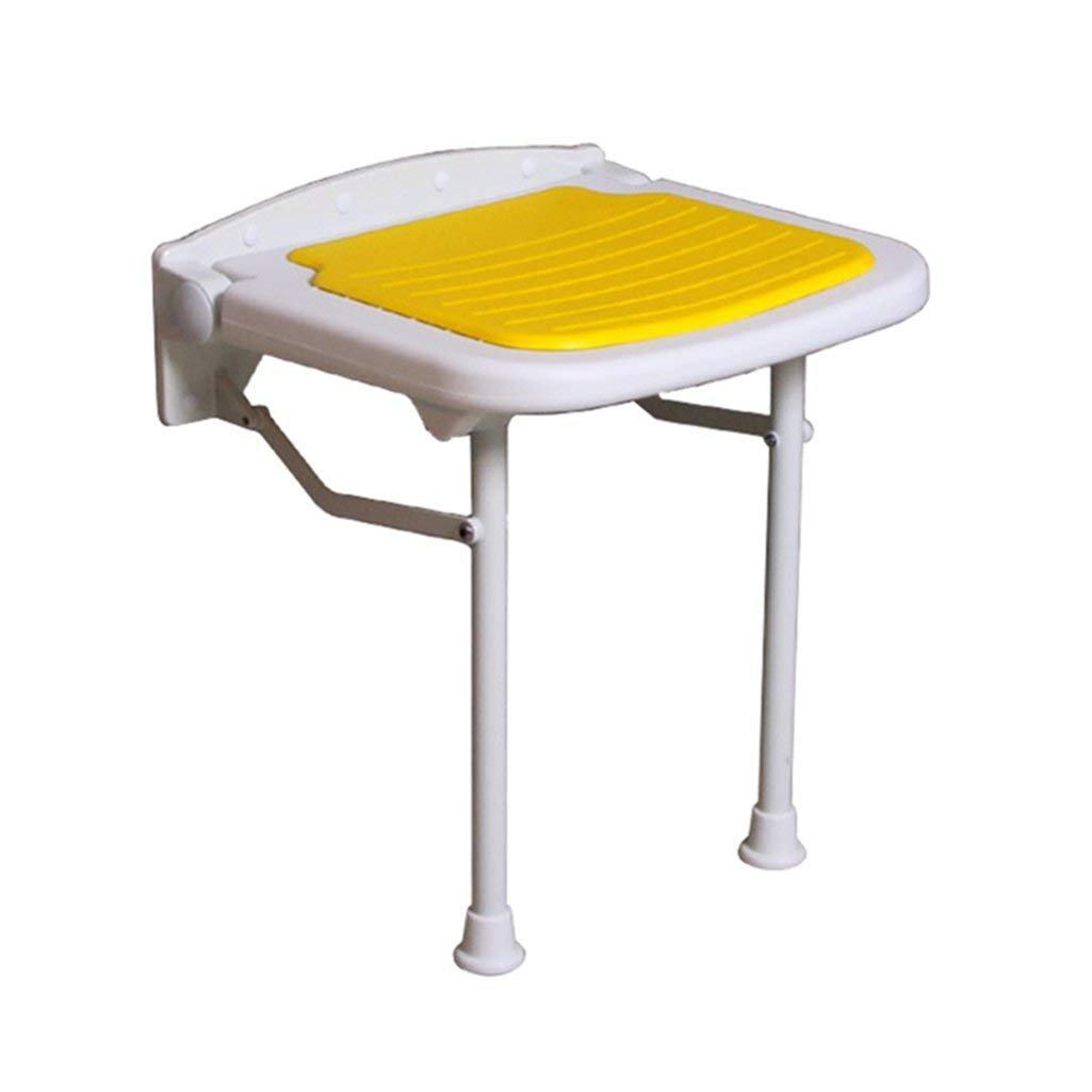 【通販激安】 WYT-0909 折りたたみ式の壁のシャワーのスツールウォールマウントされたシャワーシートスツール折りたたみ式の変更靴高齢者 B07FM2VDDY/障害者のためのスツール調節可能な脚付きアンチスリップチェア黄色の最大スツール WYT-0909。 バスルーム用 250kg バスルーム用 B07FM2VDDY, あなたの町のミシン屋さん:3e9531fe --- ciadaterra.com