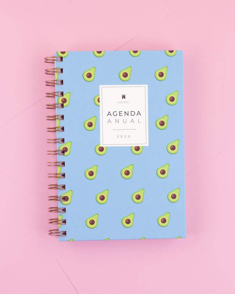 Casterli - Agenda Anual 2020 - Día página, tamaño A5 (Avocado)
