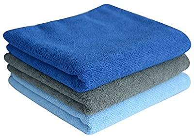 Sinland Multi-purpose Microfiber Fast Drying Travel Gym Towels 3-pack