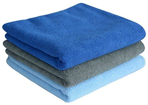 Sinland Multi purpose Microfiber Fast Drying Travel Gym Towels 3 pack 16 Inch X 32 Inch
