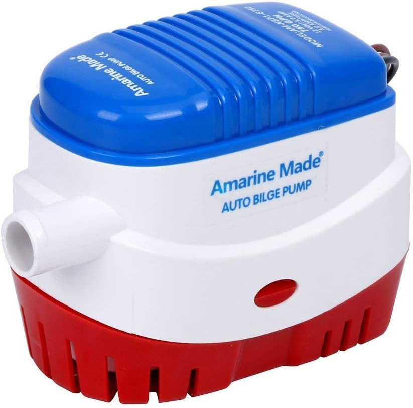 FreeTec Bomba de achique Sumergible automática para Barcos 750GPH 12V con Interruptor de Flotador para embarcaciones Marinas Yacht Caravan Camping