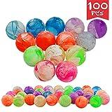 Toys : Agreatca 100 pcs Cloud 19 mm Bouncing Balls,Mini Neon Swirl Bouncing Balls,Neon Bouncing Balls Bulk Kit for Kids, Rubber Swirl Bouncing Balls