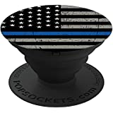 """PopSockets Cell Phone Stands - Smartphones & Tablets - """"Brave New Look Thin Blue Line - Police Officer"""""""