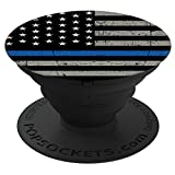 Brave New Look Thin Blue Line Police Officer PopSockets Stand for Smartphones and Tablets