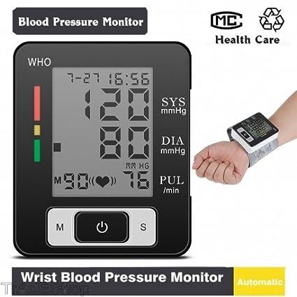 tradeshoptraesio® – Tensiómetro Medidor de presión de pulsera digital coche aritmia