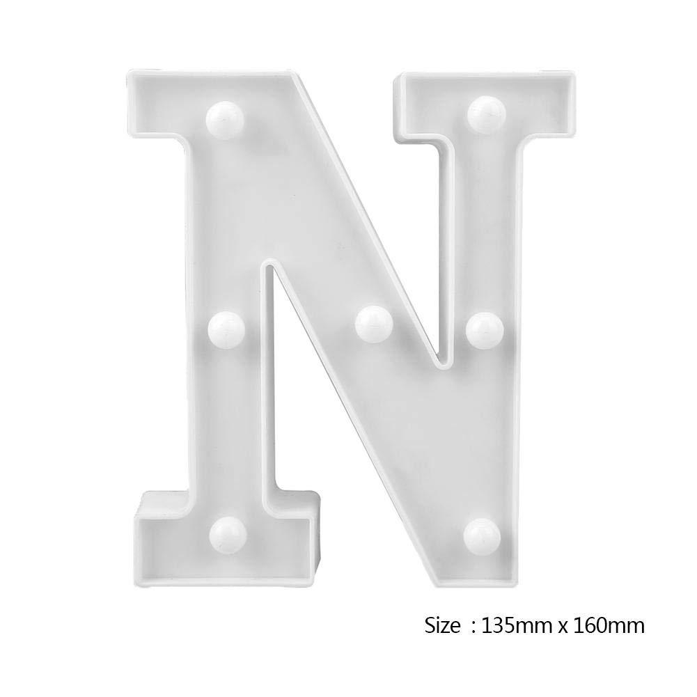 Demiawaking Luci LED Decorative a Forma di Lettere 3D LED Alfabeto Luminoso Piccolo Luce Atmosfera Lampada Decorativa per Feate Matrimonio Natale Compleanno E