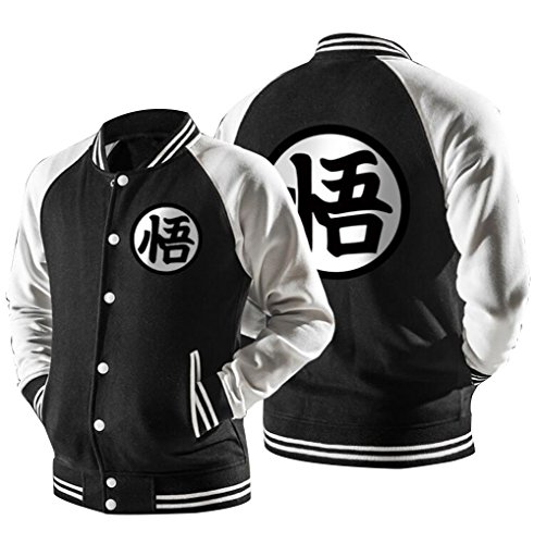 Poetic Walk Dragon ball Z Son Goku Clothing Constract Color Jacket (X-Large, 02-Black) (Dragon Ball Z Jacket)