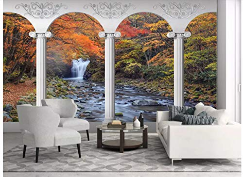 3D Wallpaper Decorations Wall Stickers Murals Stone Arch Waterfall Landscape Living Room Background Environmental Art Kids Kitchen (W)300x(H)210cm
