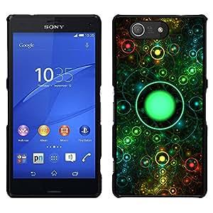 LECELL--Funda protectora / Cubierta / Piel For Sony Xperia Z3 Compact -- En Ojo Universo Anillo Espacio Abstracto --