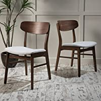 Christopher Knight Home 298995 Lucious Dining Chair (Set of 2), Light Beige