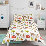 Bloomsbury Mill - Woodland Animals - Kids Bedding Set - Double Duvet Cover and 2 Pillowcases