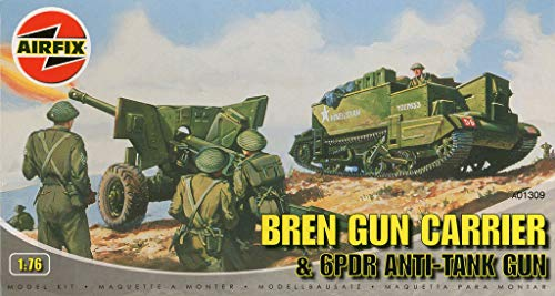 Carrier & 6pdr Anti-Tank Gun Plastic Model Kit #A01309 ()