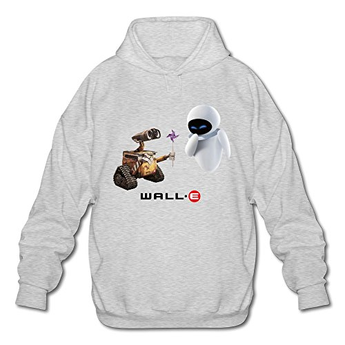 AOPO Wall E Men's Long Sleeve Hooded Sweatshirt / Hoodie XX-Large (Wall E And Eve Halloween Costumes)