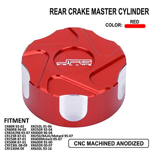 AnXin Rear Brake Master Cylinder Cap CNC For HONDA CR80R CR80RB CR85R/RB CR125R CR500R CRF230L CRF230M XR250L XR250R XR400R XR250/BAJA/Motard XR400Motard XR600R XR650R XR650L
