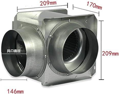 JKL Ventiladores de Escape del hogar Soplador de conducto silencioso Ventilación Interior Ruido de Escape: 32Db (A ...