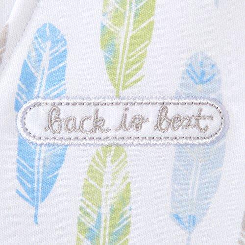 Halo Sleepsack Cotton Wearable Blanket, Feather Aloe Print, Small by Halo (Image #1)
