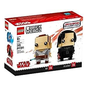 LEGO BrickHeadz Limited Edition Star Wars Rey and Kylo Ren Collector's Pack