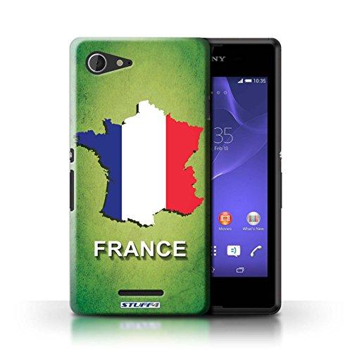 Kobalt® Imprimé Etui / Coque pour Sony Xperia E3 / France/Français conception / Série Drapeau Pays