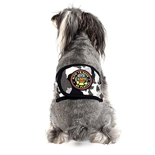 Alfie x B.Duck - Jasper Military Belly Band for Boy Dogs - Color: Black, Size: Small