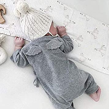 a30360396c02c エンジェル ウイング ロンパース 男の子 女の子 赤ちゃん ベビー服 新生児 トップス ロンパ 長袖 おしゃれ かわいい 出産祝い プレゼント