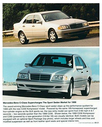 1999 Mercedes Benz Sport Sedan C230 Kompressor Automobile Photo Poster (Kompressor Sedan C230)