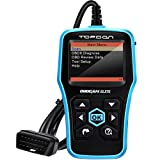 TOPDON Elite OBD2 Scanner, ABS SRS Diagnostic Tool Car Engine Fault Code Reader CAN Diagnostic Scan Tool, Universal Check Engine Light Automotive OBDII Scanner