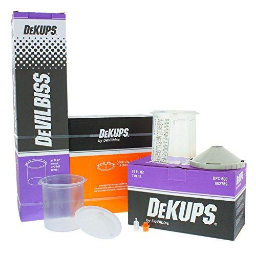 DeVILBISS DeKUPS 24 oz STARTER KIT-HVLP Spray Paint Gun ()