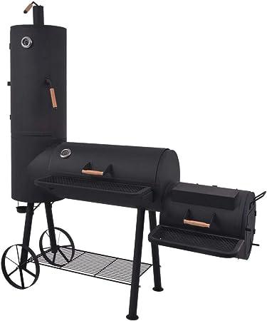 Amazon.com: Tidyard BBQ Charcoal Smoker with Bottom Shelf for Outdoor  Cooking Black Heavy XXL: Home & Kitchen